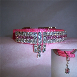 Diva Dog Crystal Jeweled Dog Collar