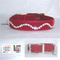 New Wave Velvet Crystal Bling Collar