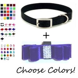 Velvet Collar with Fancy Bow