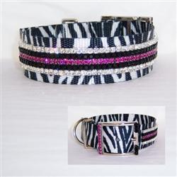 Wild Zebra Crystal Collar