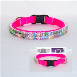 Hot Pink Multicolored Small Pet Collar