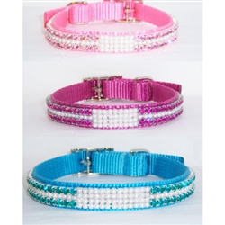 My Pearly Whites Jeweled Collar for dogs and cats