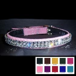 Custom Leather Crystal Pet Collar