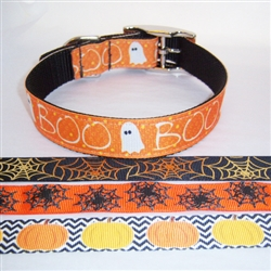 Custom 1 inch Halloween Dog Collar