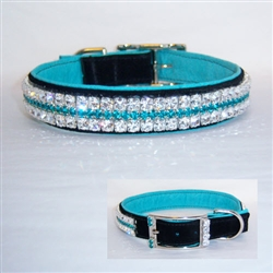 Night On The Town Jeweled Leather Dog Collar
