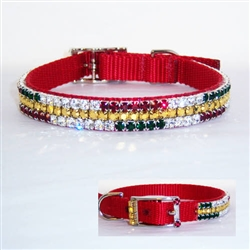 Best Christmas Ever Crystal Dog Collar
