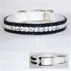 The Black Tie Crystal Jeweled Dog Collar