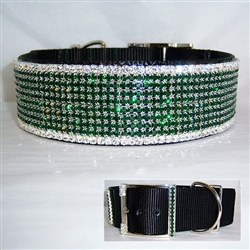Exquisite Emerald Big Dog Collar