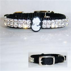 Sweet Cameo Crystal Jeweled Collar