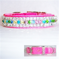 Floral Diamonds Dog Collar