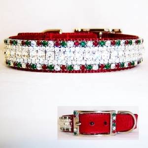 Swarovski Christmas Dog Collar