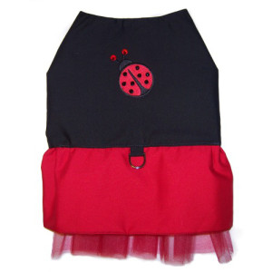Ladybug dog dress