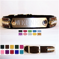 Personalized dog collars, personalized big dog collars, dog collar tags.